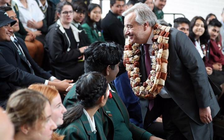 UN Secretary-General Speaks to Students